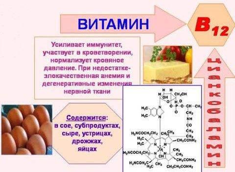 Лечение анемии при нехватке витамина B12