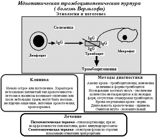 Идиопатическая тромбоцитопеническая пурпура