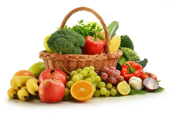 При нефрите показано есть фрукты и овощи