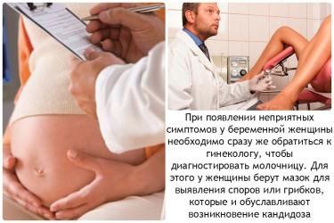 Диагностика молочницы при беременности