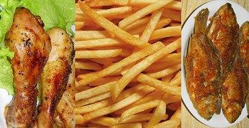 Из рациона исключается жареная пища