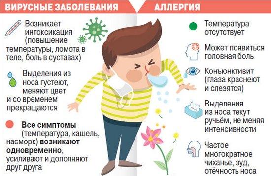 Отличия аллергического кашля от простудного