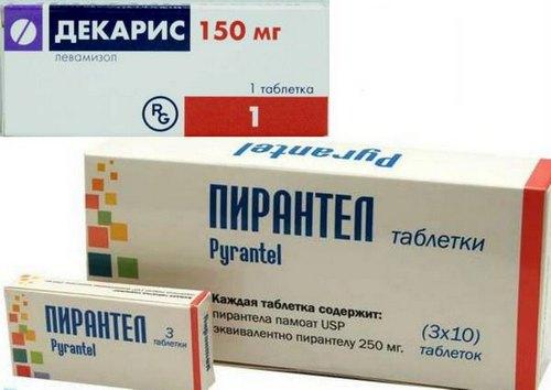 Препараты для лечения  аскаридоза у детей