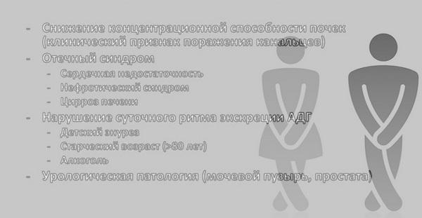 Причины никтурии