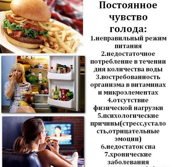 Причины постоянного чувства голода