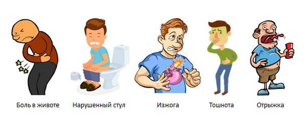 Симптомы, сопровождающие кислый привкус во рту